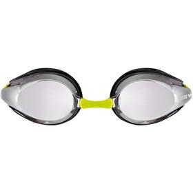 arena Tracks Mirror Goggles Kids silver-black-fluoyellow